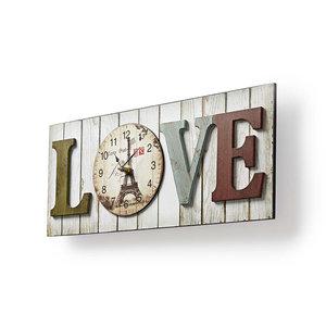 Houtstijl wandklok in lijst | Model 'LOVE'